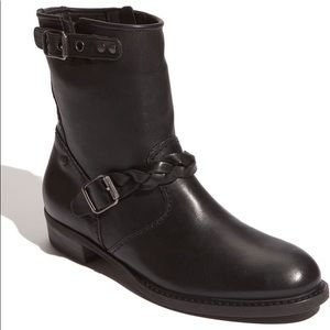 Paul Green 'Jackson' black leather biker boot.